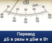 Онлайн калькулятор дБ в разы и дБм в Вт