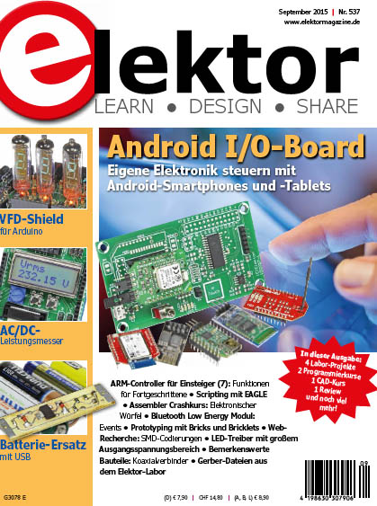 Elektor Electronics №9 2015 Germany