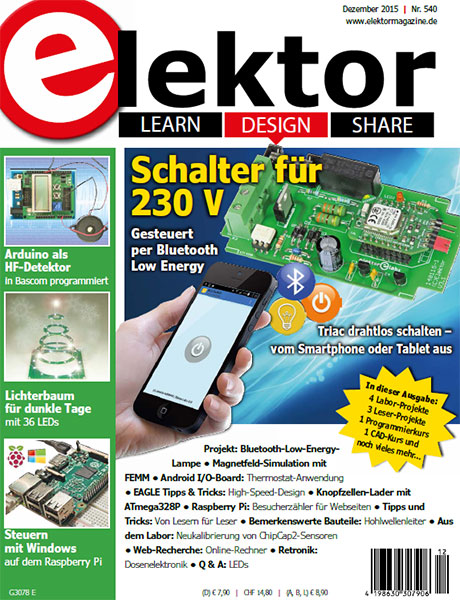 Elektor Electronics №12 2015 Germany