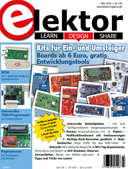Elektor Electronics №3 2016 Germany