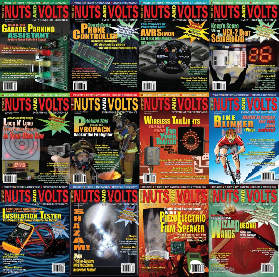 Nuts and Volts №1-12, 2012